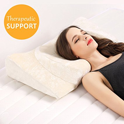 Contour Memory Foam Pillow Ergonomic Support Pillow With