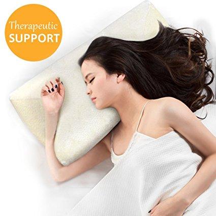 Contour Memory Foam Pillow Ergonomic Support Pillow With
